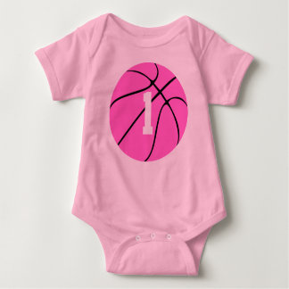 Pink Basketball Baby Bodysuit
