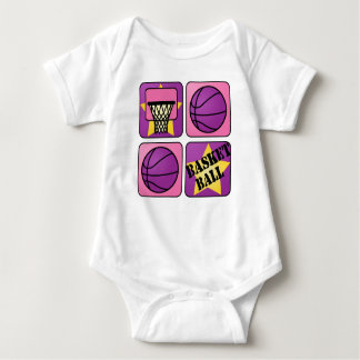 PInk Basketball Baby Bodysuit