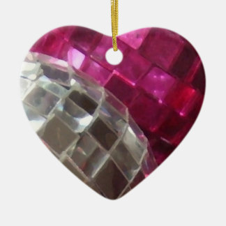 Pink Baubles detail ornament heart