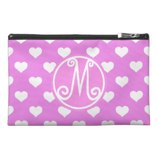 Pink BD Heart Monogram Travel Accessories Bags
