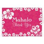 Pink Beach Flowers Wedding Thank You Cards