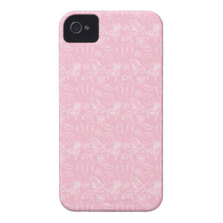 Pink Beach Pattern iPhone 4 Cases