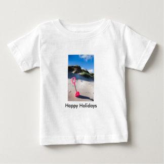Pink Beach Spade Baby Tee Shirt