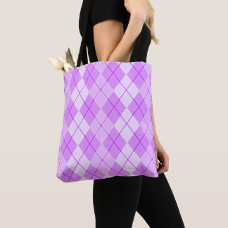 Pink-Beauty-Argyle(c)Bag or Tote-M-L Tote Bag