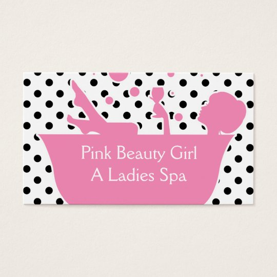 Pink Beauty Spa Business Cards