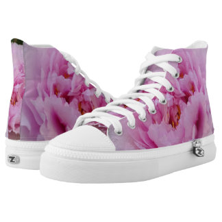 Pink Beauty Zipz High Top Shoes