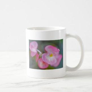 Pink Begonia Basic White Mug