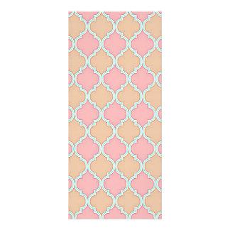 Pink Beige Moroccan Trellis Pattern Personalized Rack Card