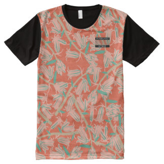 Pink Bell Blossoms Pink Designer Modern Shirt All-Over Print T-Shirt