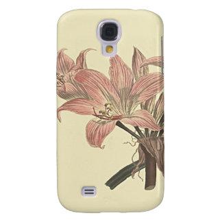 Pink Belladonna Lily Botanical Illustration Galaxy S4 Case