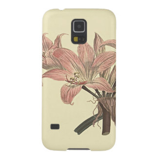 Pink Belladonna Lily Botanical Illustration Galaxy S5 Covers