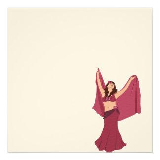 Pink Belly Dancer Custom Invitation