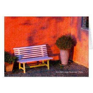 Pink Bench Notecard