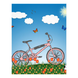 Pink bicycle 21.5 cm x 28 cm flyer