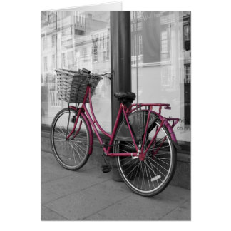 Pink Bicycle Card