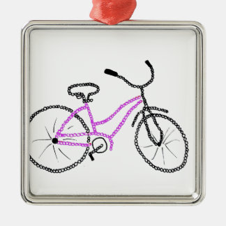 Pink Bicycle Christmas Ornament