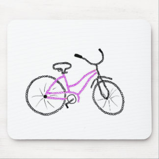 Pink Bicycle Mouse Pad
