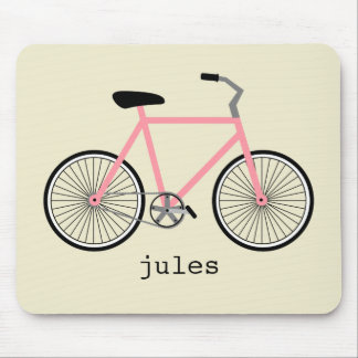 Pink Bicycle Personalized Mousepad