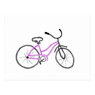 Pink Bicycle Post Cards