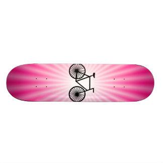 Pink Bicycle Skate Board