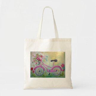 Pink Bicycle Tote Bag