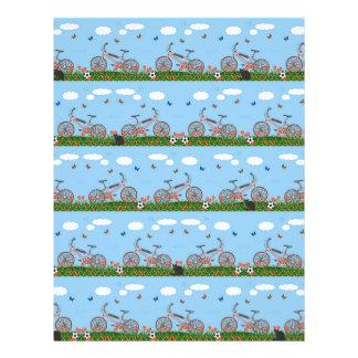 Pink bicycles pattern 21.5 cm x 28 cm flyer