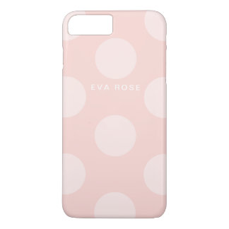 Pink Big Polka Dots iPhone 7+ Case