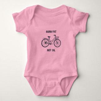 Pink bike baby bodysuit