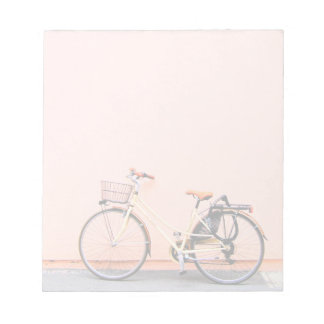 Pink Bike Basket Bicycle Two Wheel Notepad