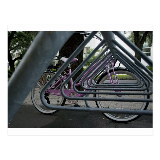 pink bike postcard