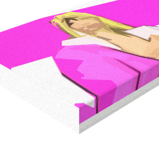 Pink Bimbo Feminism Canvas Print