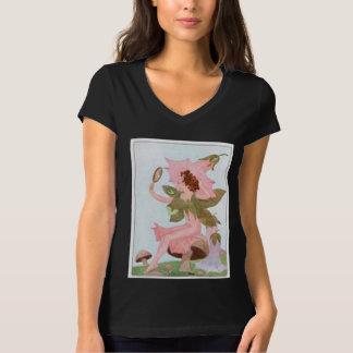 Pink Bindweed Flower Fairy Tees