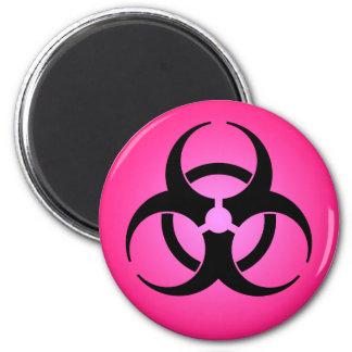 Pink Biohazard Symbol Magnet