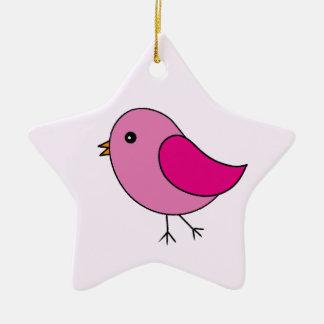 Pink Bird Christmas Ornament
