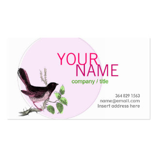 Pink Birdy Profile Card Pack Of Standard Business Cards