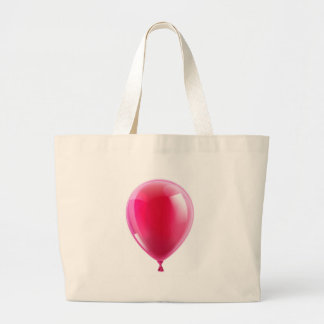 Pink birthday or party balloon canvas bag