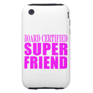 Pink Birthdays & Christmas : Super Friend iPhone 3 Tough Cases