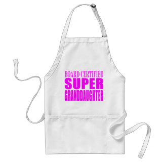 Pink Birthdays & Christmas : Super Granddaughter Aprons