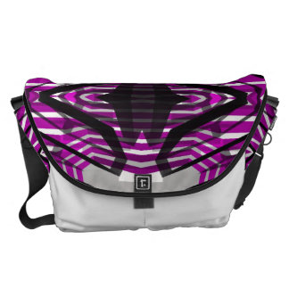 Pink Black Abstract Courier Bags