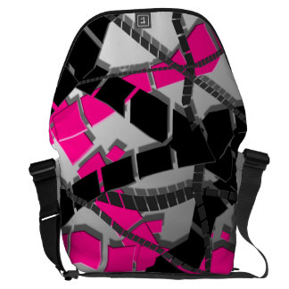 Pink Black Abstract Commuter Bag