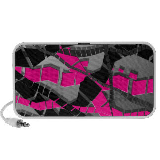 Pink Black Abstract iPod Speakers
