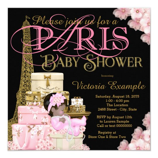 Pink Black and Gold Paris Ethnic Girl Baby