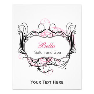 pink,black and white Chic Business Flyers