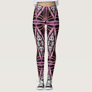 Pink Black and White Design Leggings