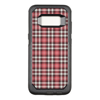Pink, Black and White Plaid OtterBox Commuter Samsung Galaxy S8 Case