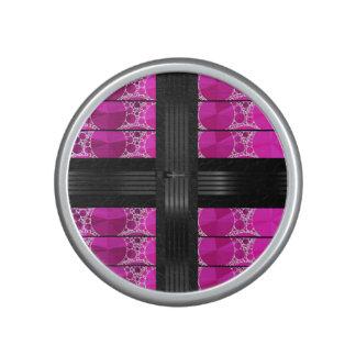 Pink Black Bling Bluetooth Speaker