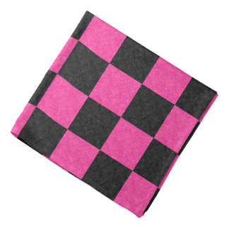 Pink Black Checkerboard Kerchiefs