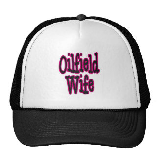 Pink Black Damask Oilfield Wife Mesh Hats