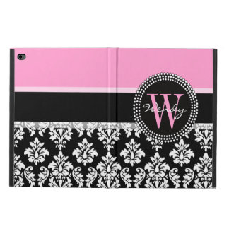 Pink, Black Damask Your Initial, Your Name Powis iPad Air 2 Case