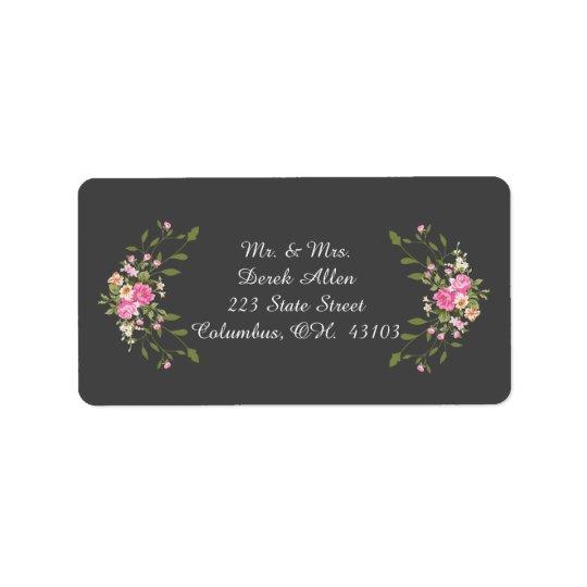 Pink/Black Floral ADDRESS LABELS